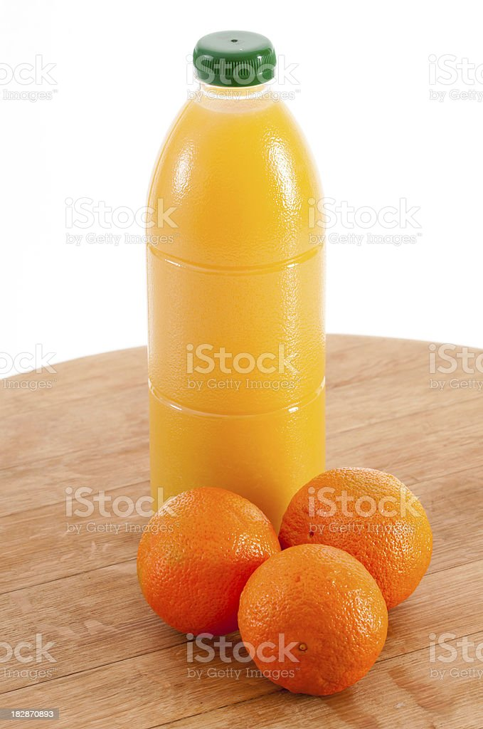 Fruit juice and oranges. royalty-free stock photo