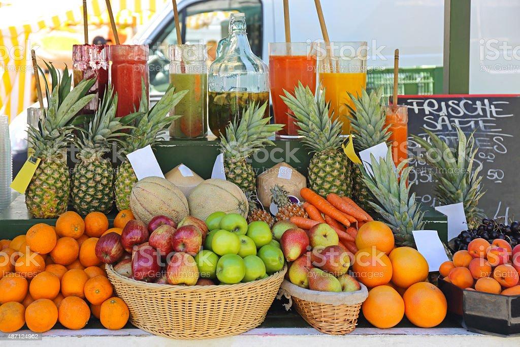 Fruit Juice Bar stock photo