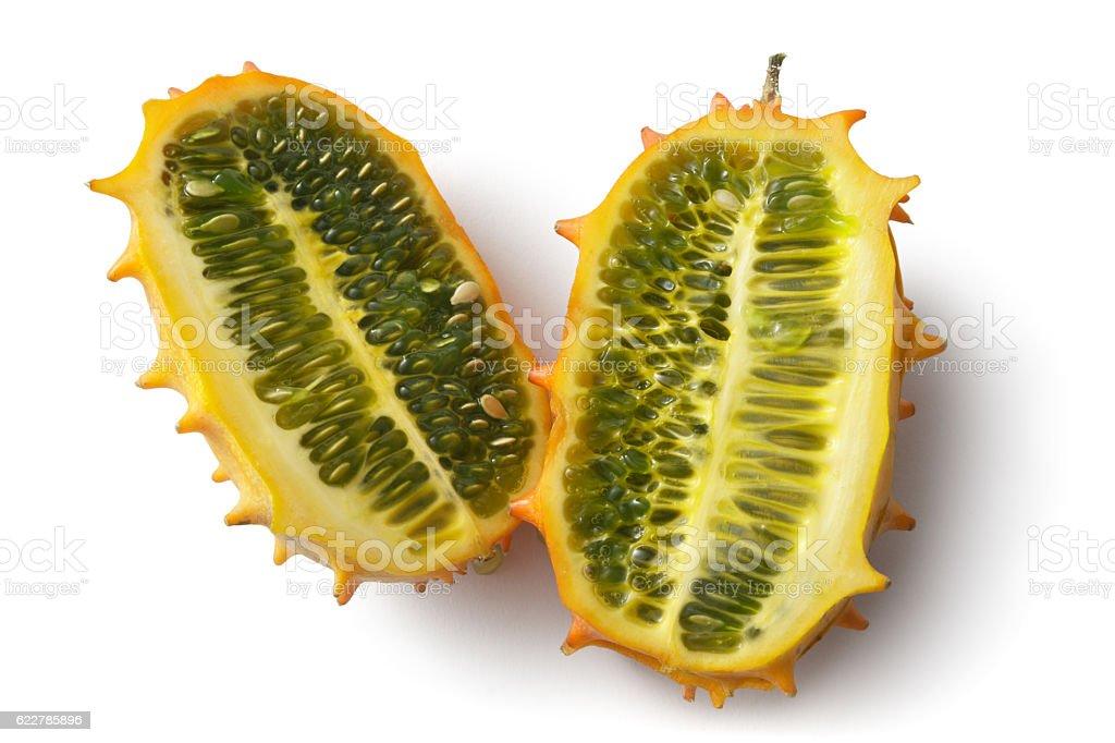 Fruit: Kawani Fruit Isolated on White Background stock photo
