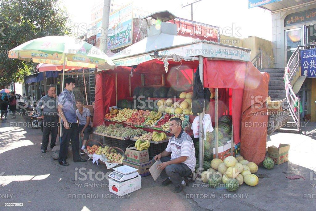 Fruit Kiosk stock photo