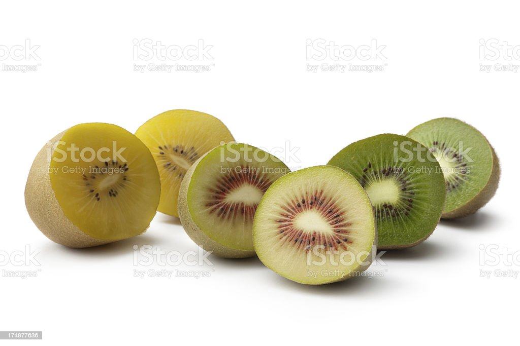 Fruit: Kiwi Collection Isolated on White Background royalty-free stock photo