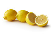 Fruit: Lemon Isolated on White Background