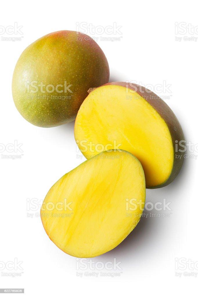 Fruit: Mango Isolated on White Background stock photo