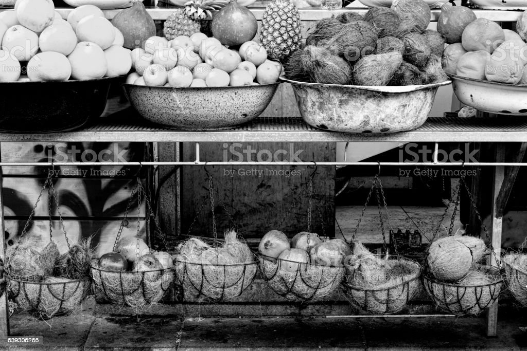 Fruit Market in Israel. stock photo