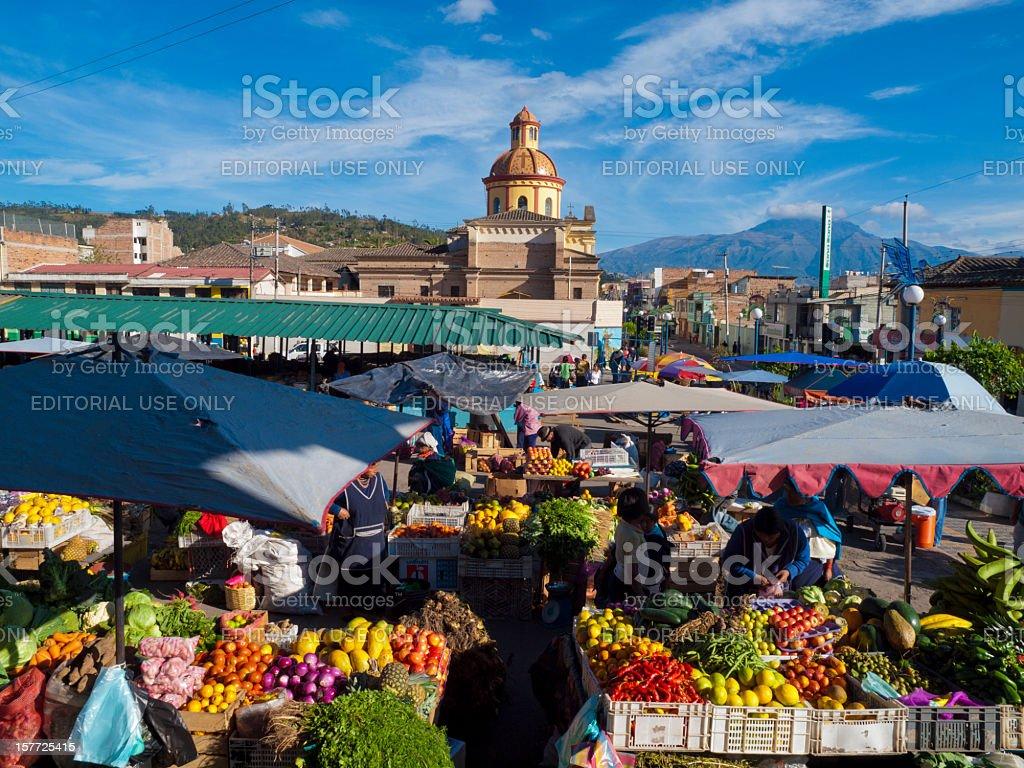 Fruit Market, Otavalo, Ecuador stock photo