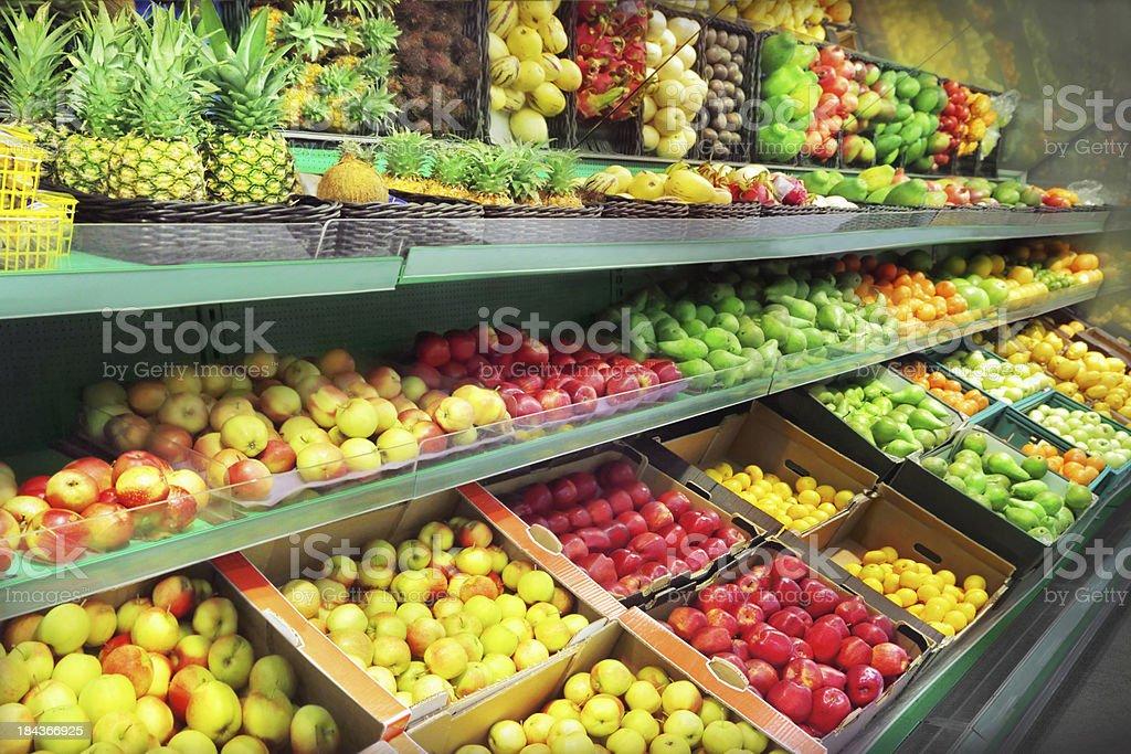 Fruit market royalty-free stock photo