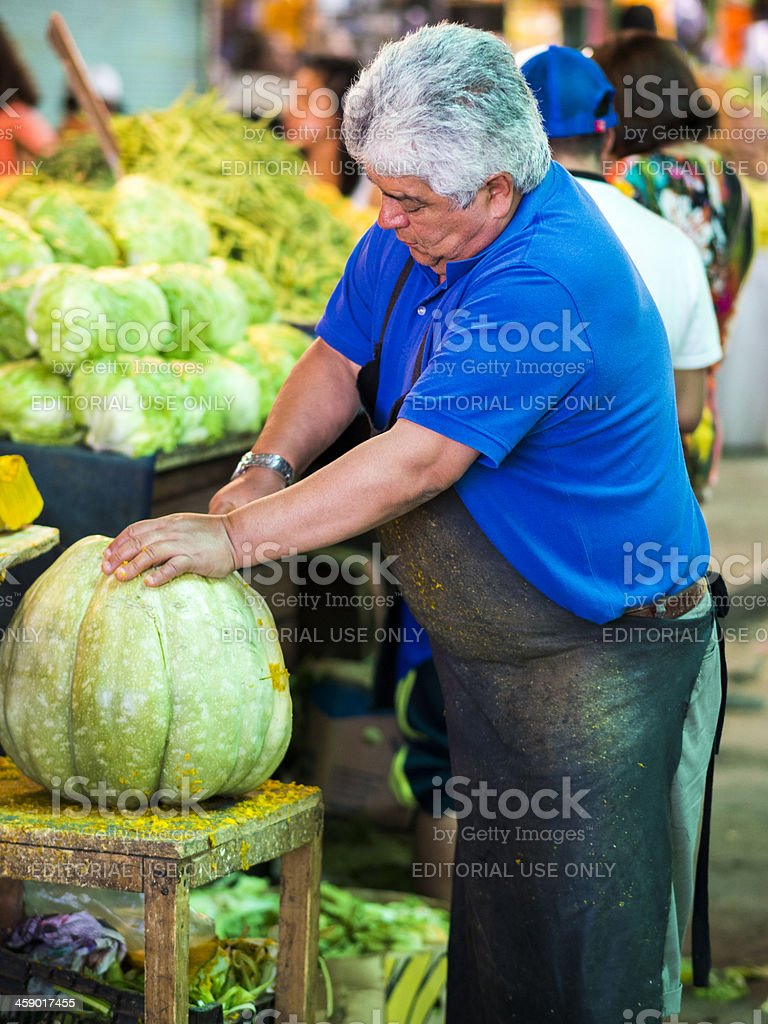 Fruit Market, Santiago de Chile. stock photo