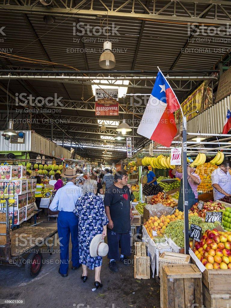 Fruit Market, Santiago de Chile stock photo