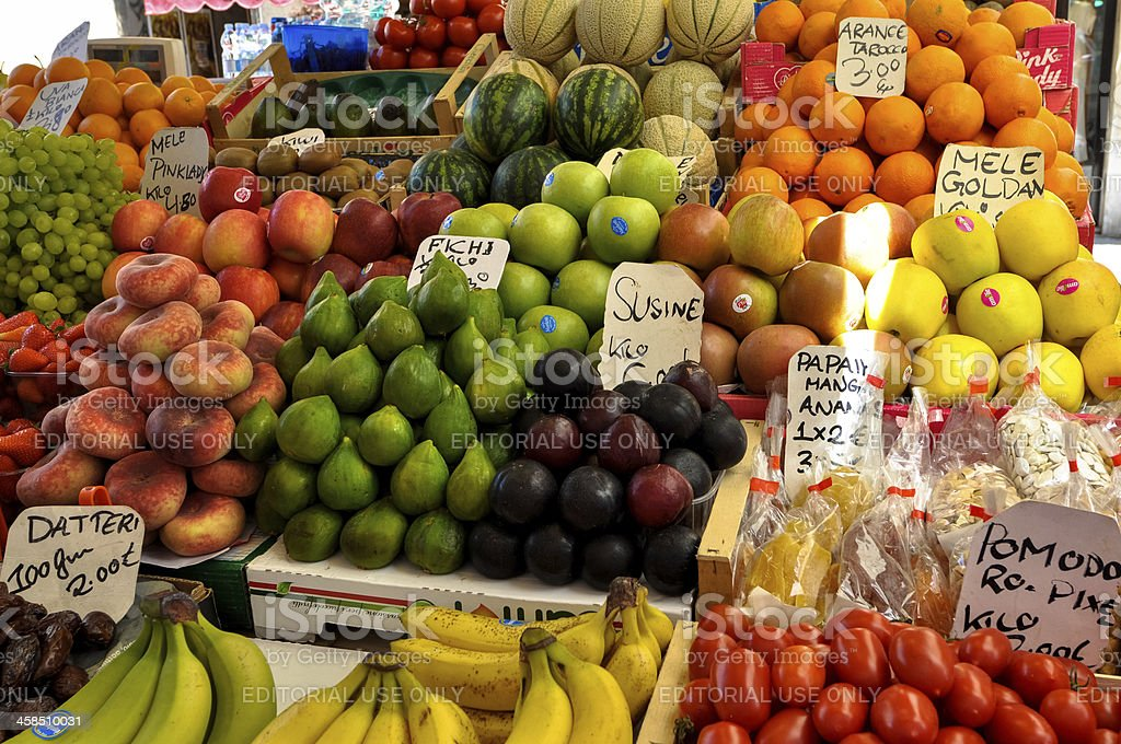 Fruit market with price tag royalty-free stock photo