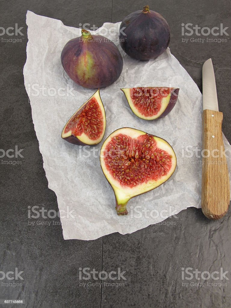 Fruit meal with figs stock photo