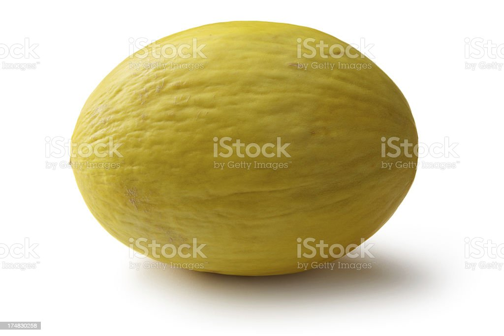 Fruit: Melon - Honeydew Melon Isolated on White Background royalty-free stock photo