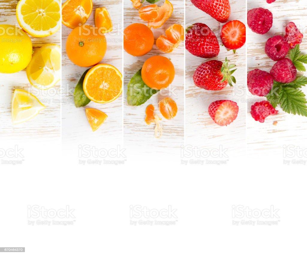 Fruit Mix Stripes stock photo