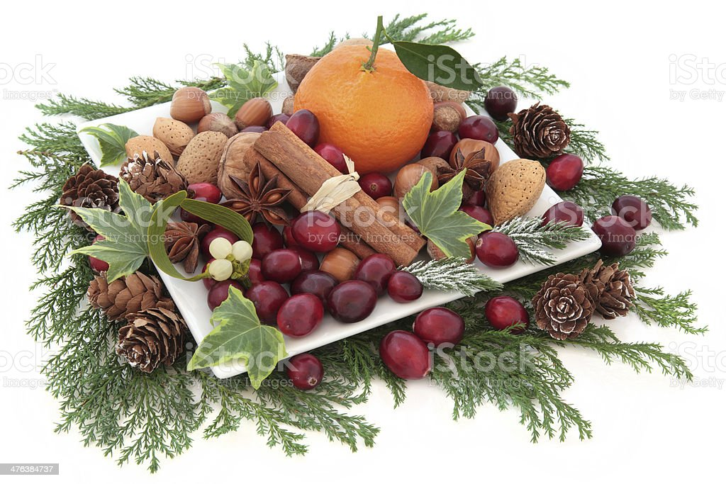 Fruit Nut and Spice Assortment royalty-free stock photo