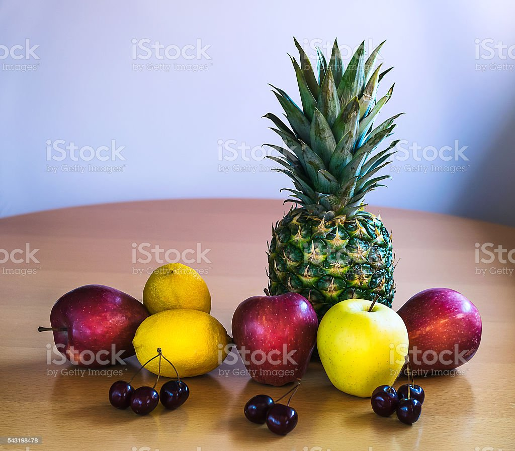 Fruit on a table stock photo