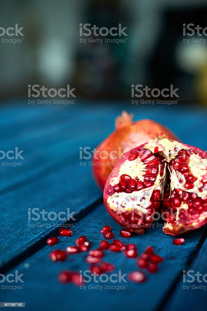 Fruit on table stock photo