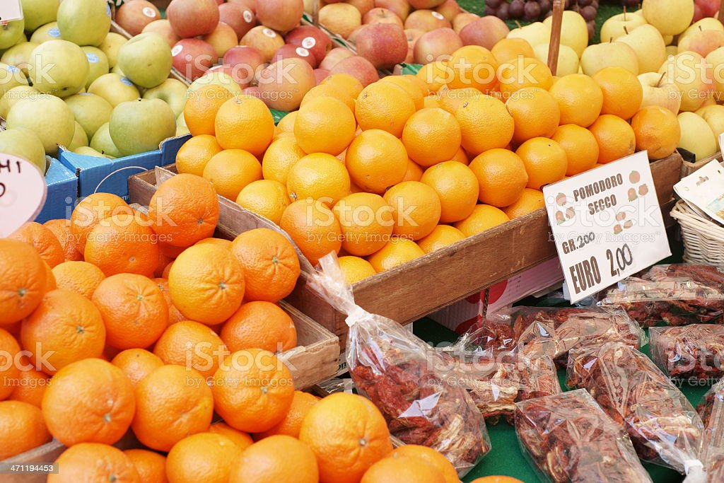 Fruit on the market in Venice royalty-free stock photo
