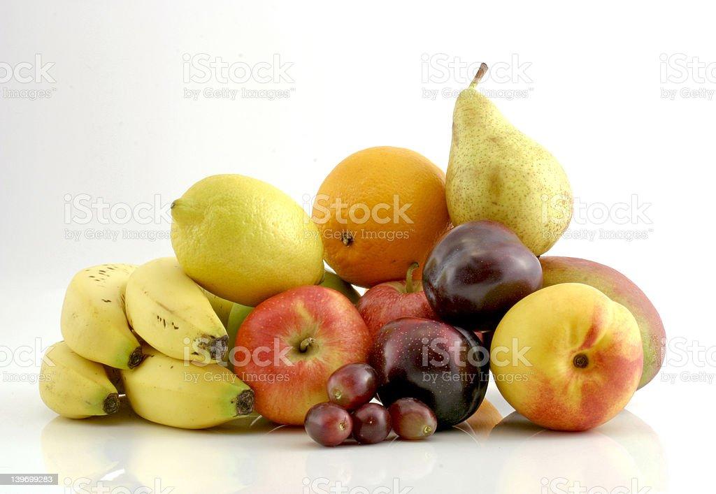 Fruit on white background royalty-free stock photo
