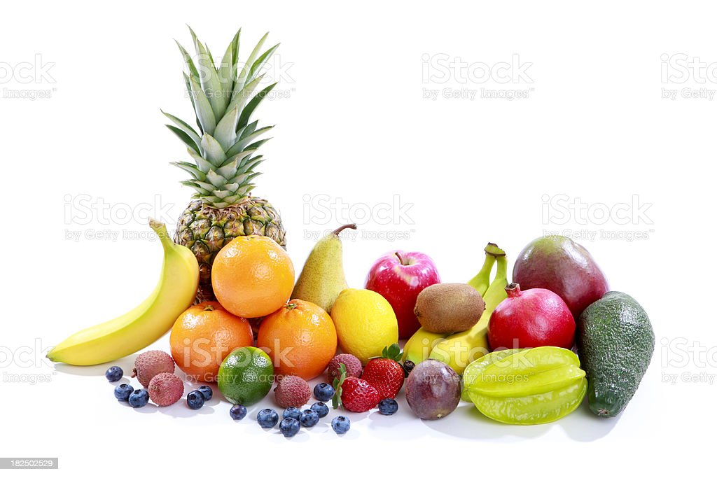 Fruit on white background royalty-free stock photo