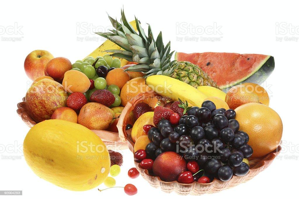 Fruit on white. royalty-free stock photo