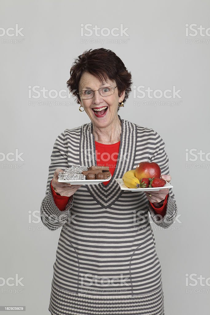 Fruit or Junkfood stock photo