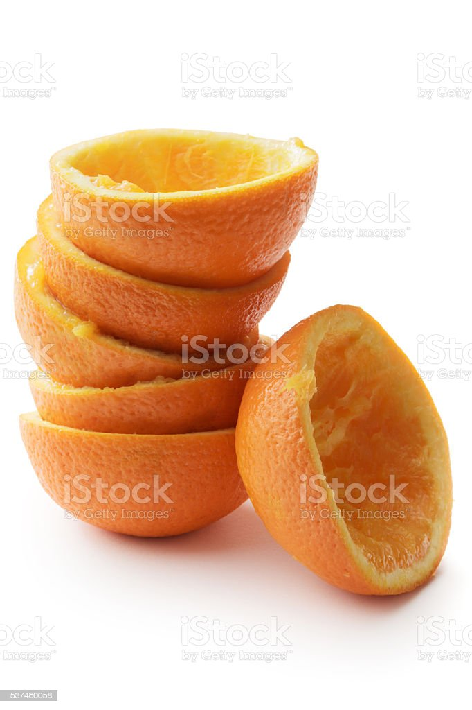 Fruit: Orange Isolated on White Background stock photo