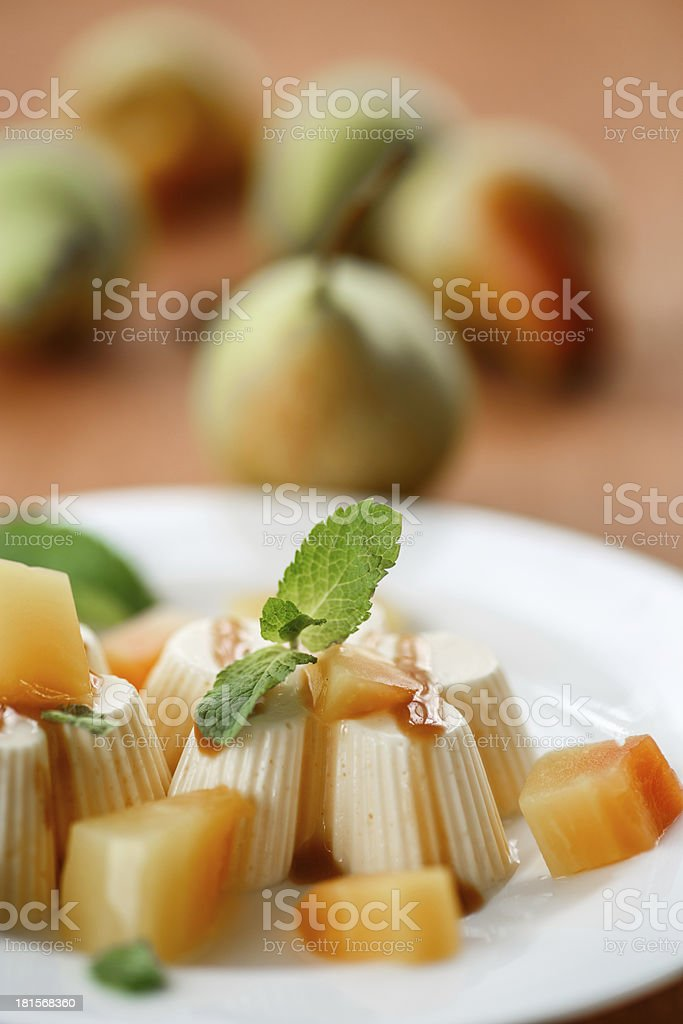 Fruit Panna Cotta royalty-free stock photo