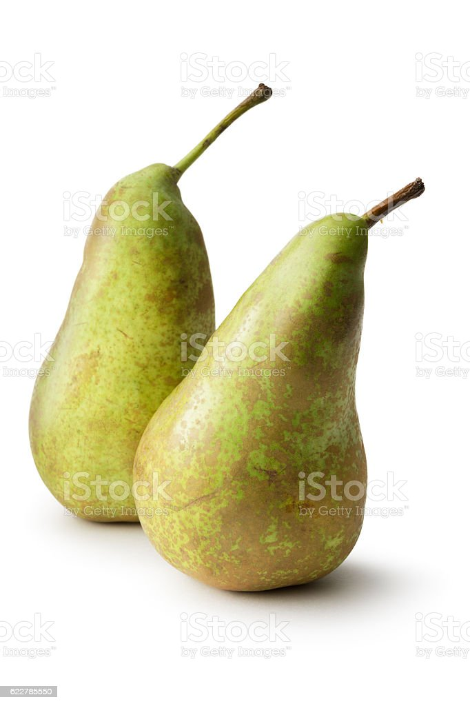 Fruit: Pears (Conferance) Isolated on White Background stock photo