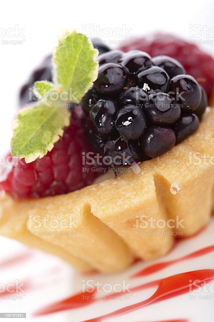 Fruit petite cake stock photo