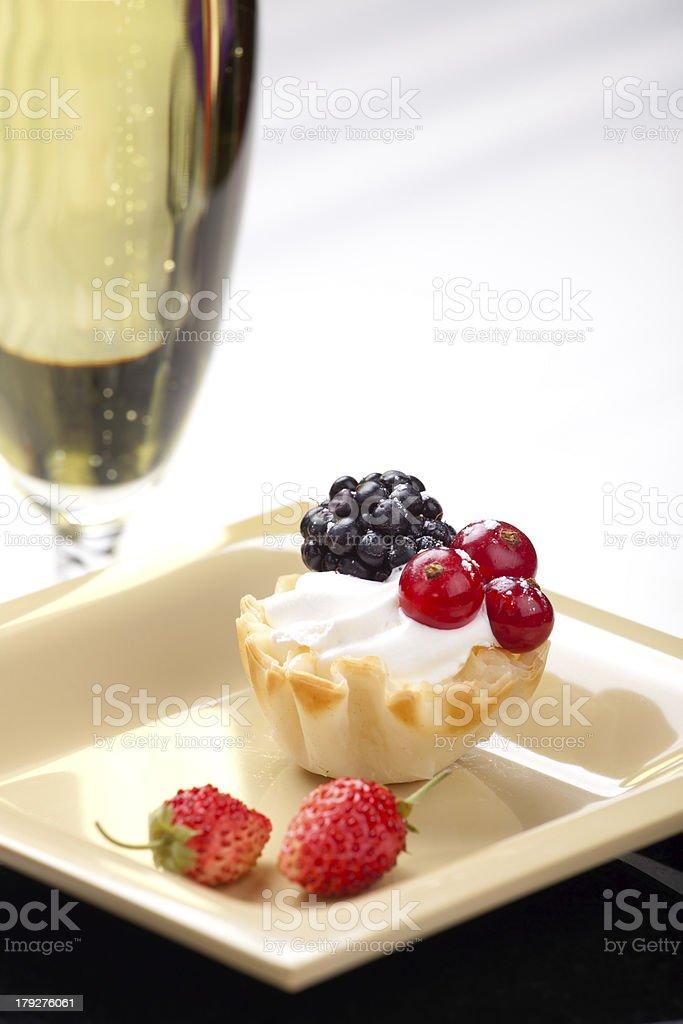 Fruit petite cake royalty-free stock photo