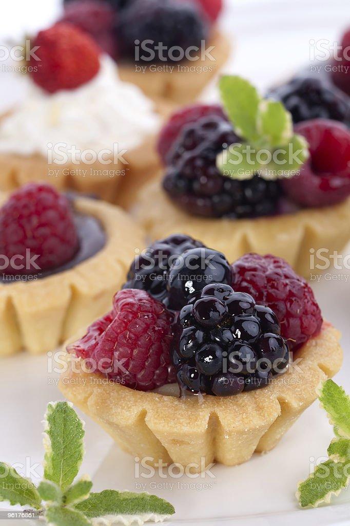 Fruit petite cakes stock photo