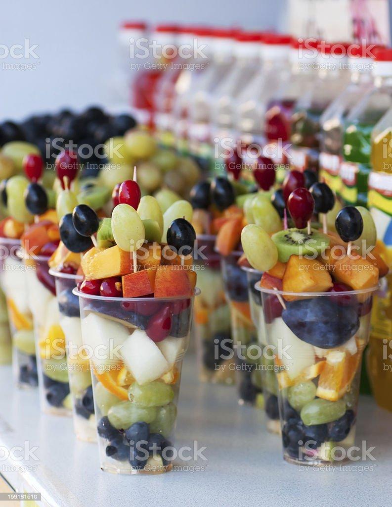 Fruit pieces royalty-free stock photo