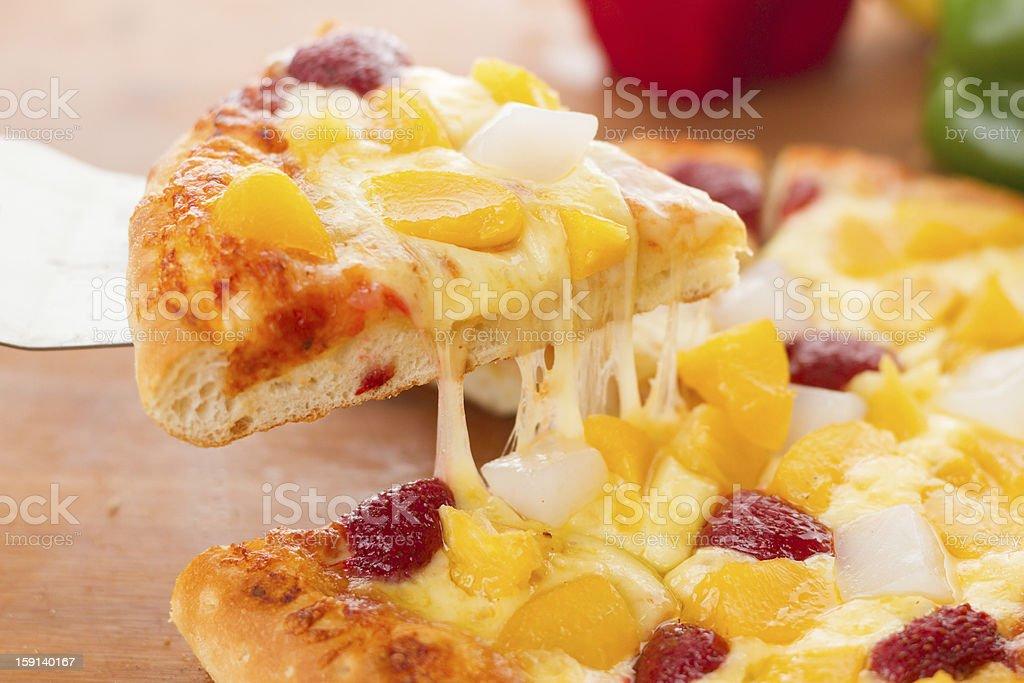 Fruit pizza stock photo