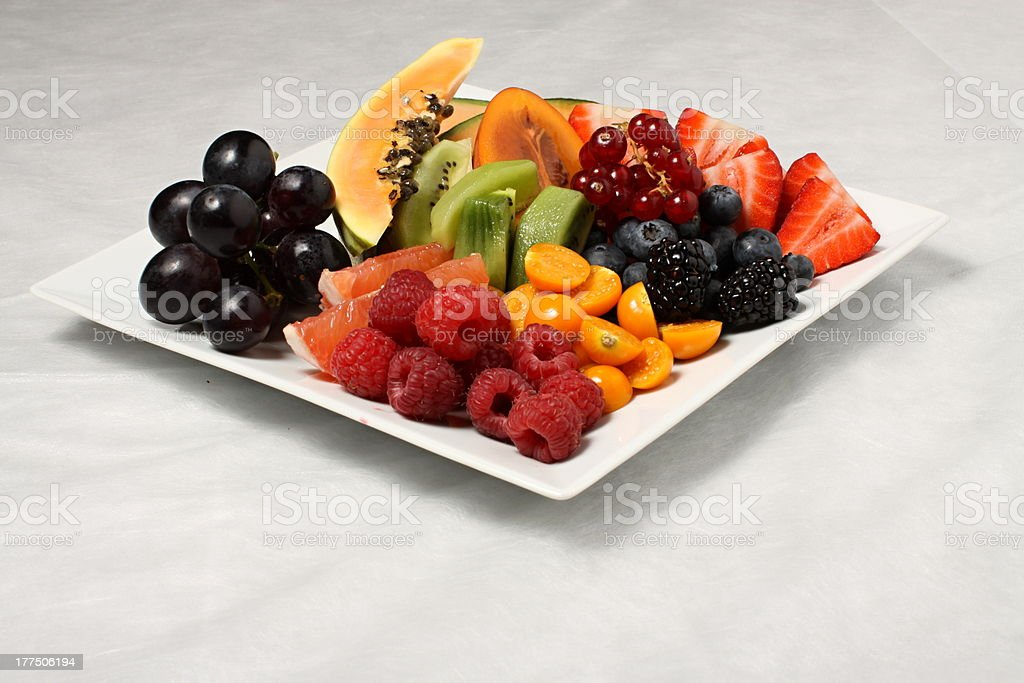 Fruit plate overall royalty-free stock photo