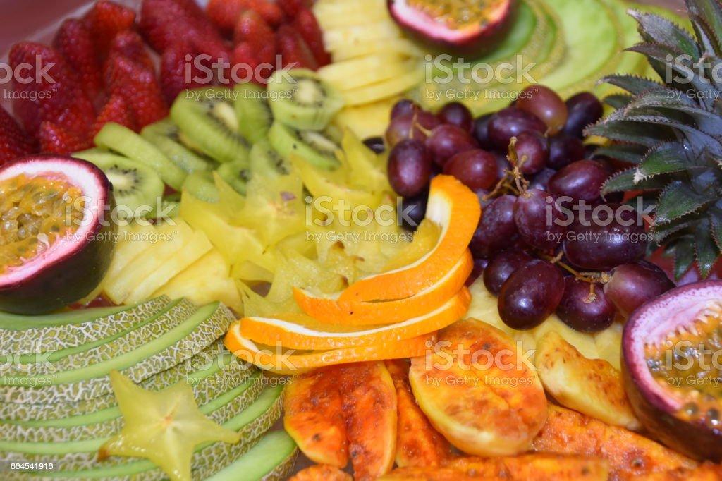 fruit plate stock photo