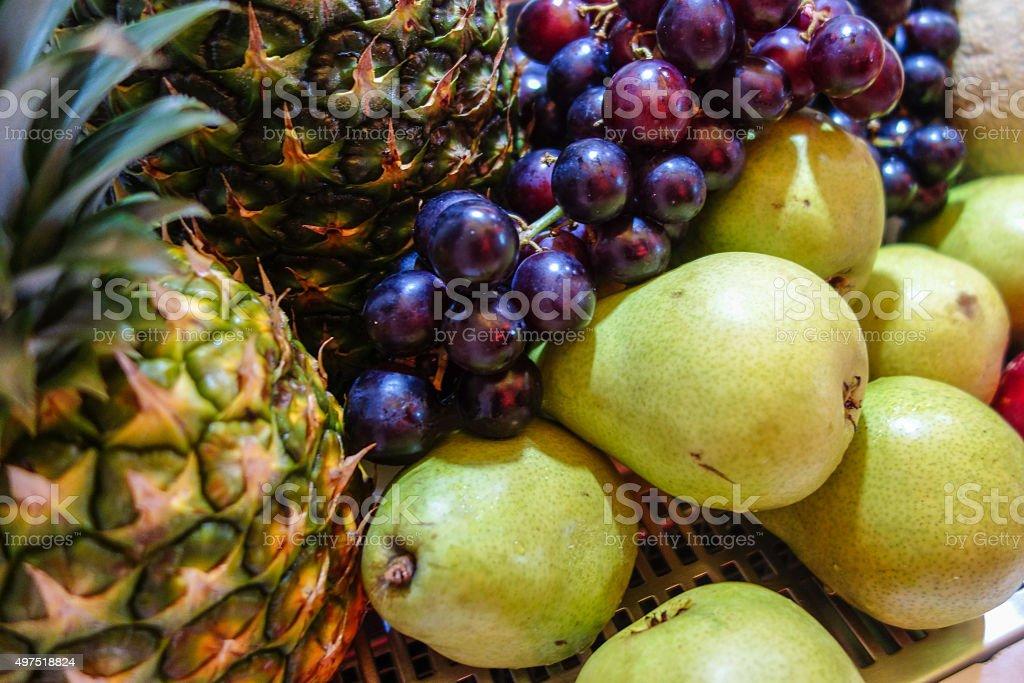 Fruit Plates stock photo
