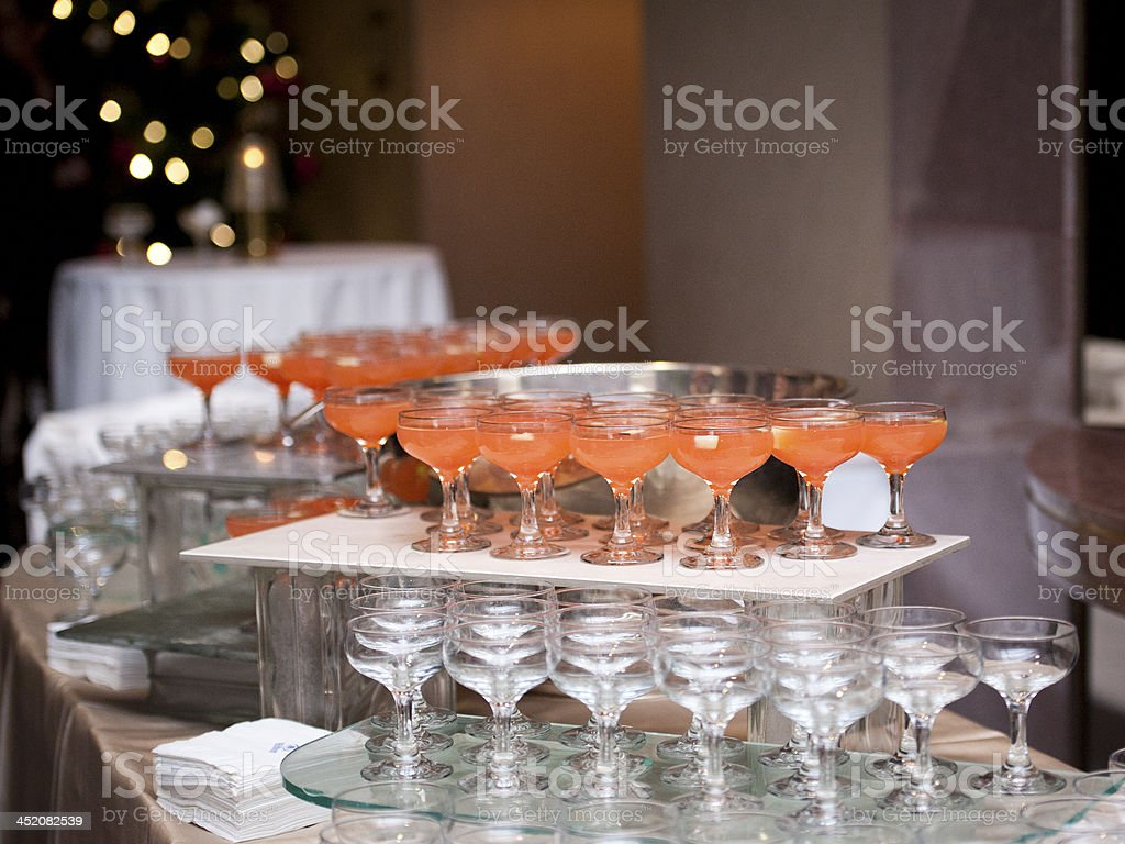 Fruit Punch at a Party stock photo