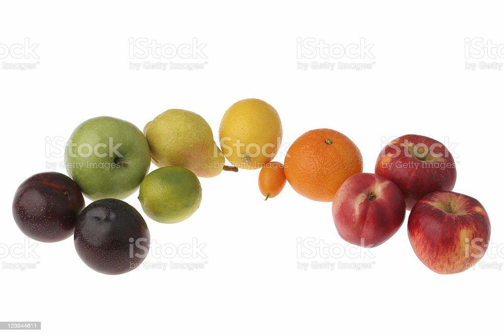 Fruit rainbow royalty-free stock photo