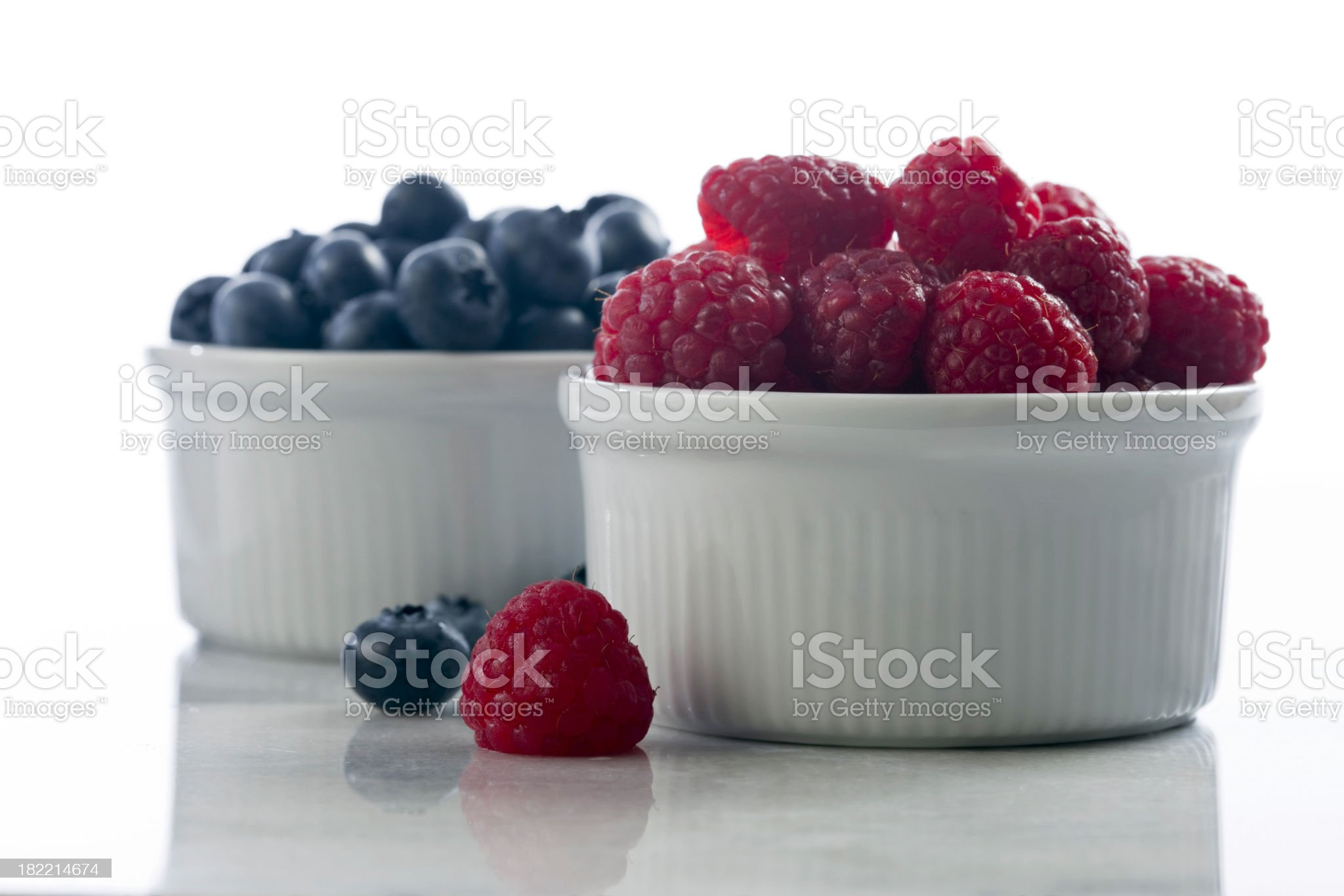 Fruit Raspberries and Blueberries royalty-free stock photo