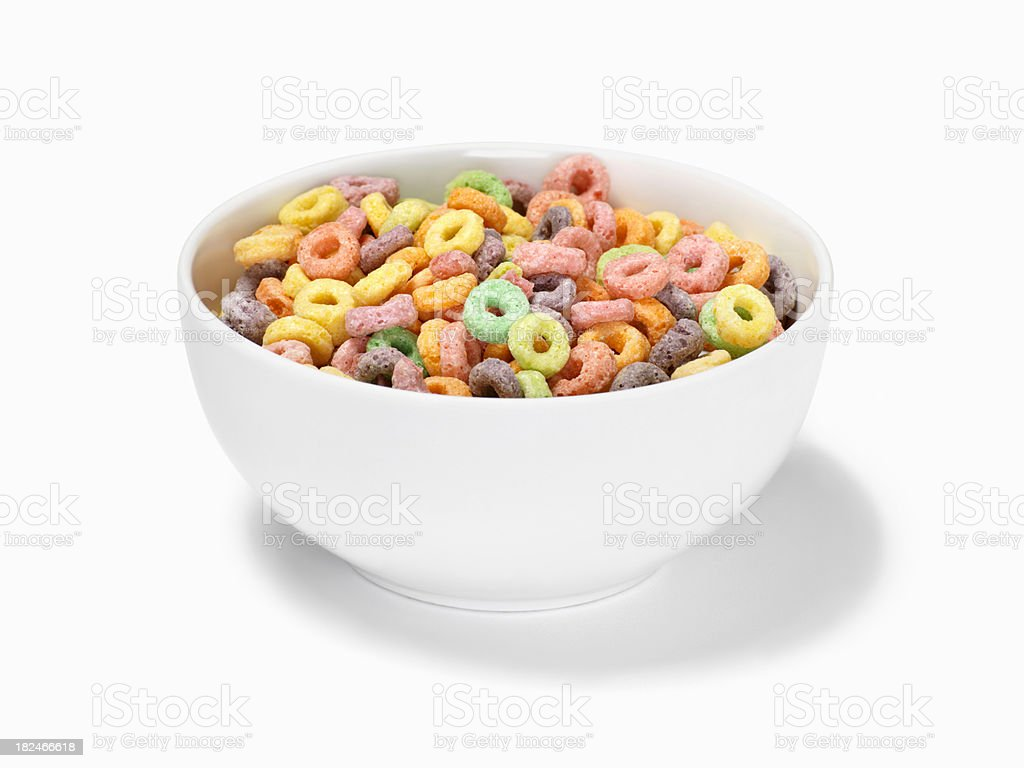 Fruit Ring Breakfast Cereal stock photo