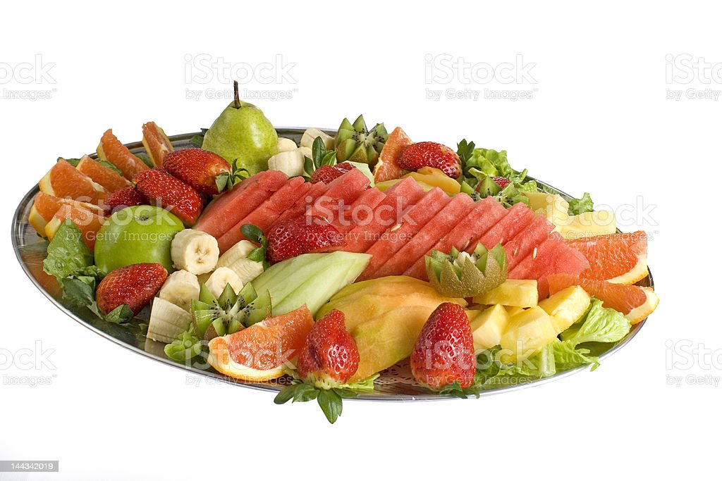 Fruit Salad Catering Platter stock photo