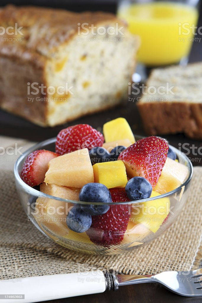 fruit salad for breakfast royalty-free stock photo