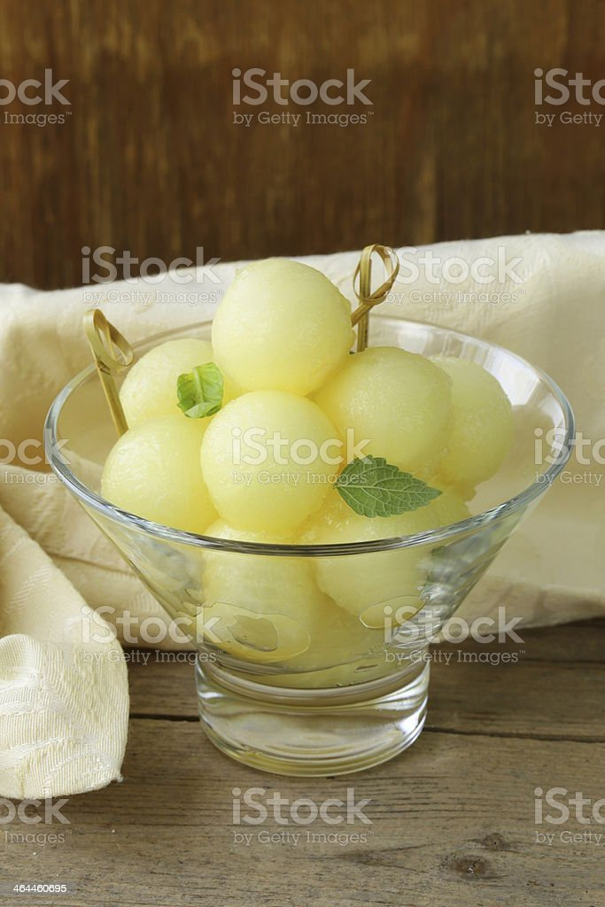 fruit salad of melon royalty-free stock photo