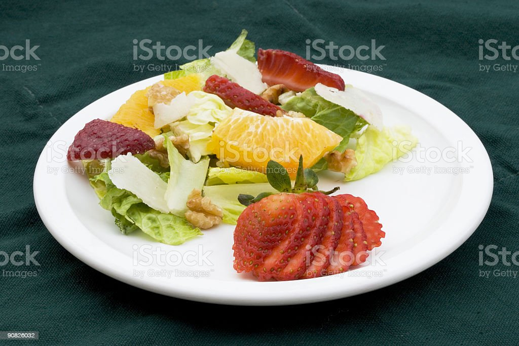 Fruit Salad Plate royalty-free stock photo