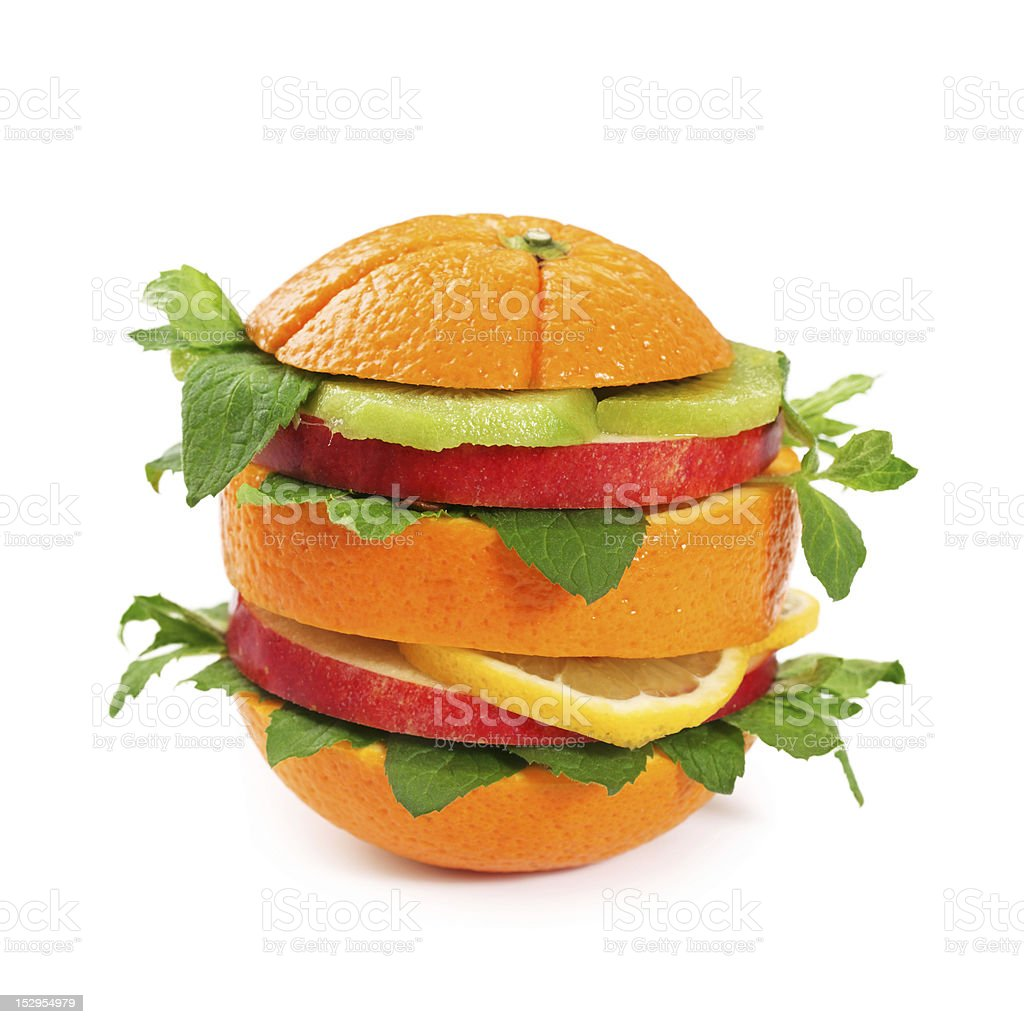 Fruit sandwich royalty-free stock photo
