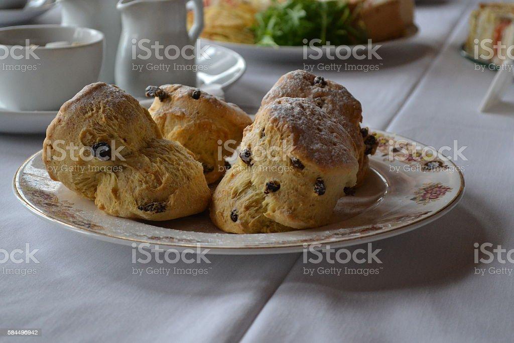 Fruit scones stock photo