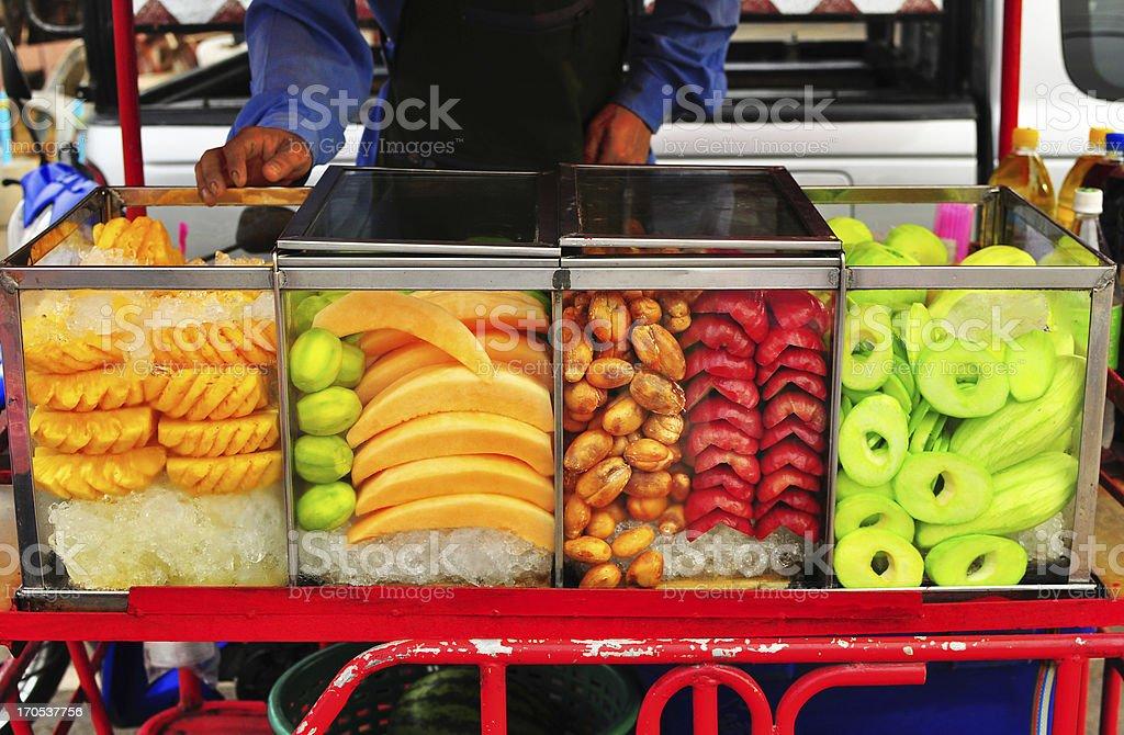 fruit seller cart royalty-free stock photo