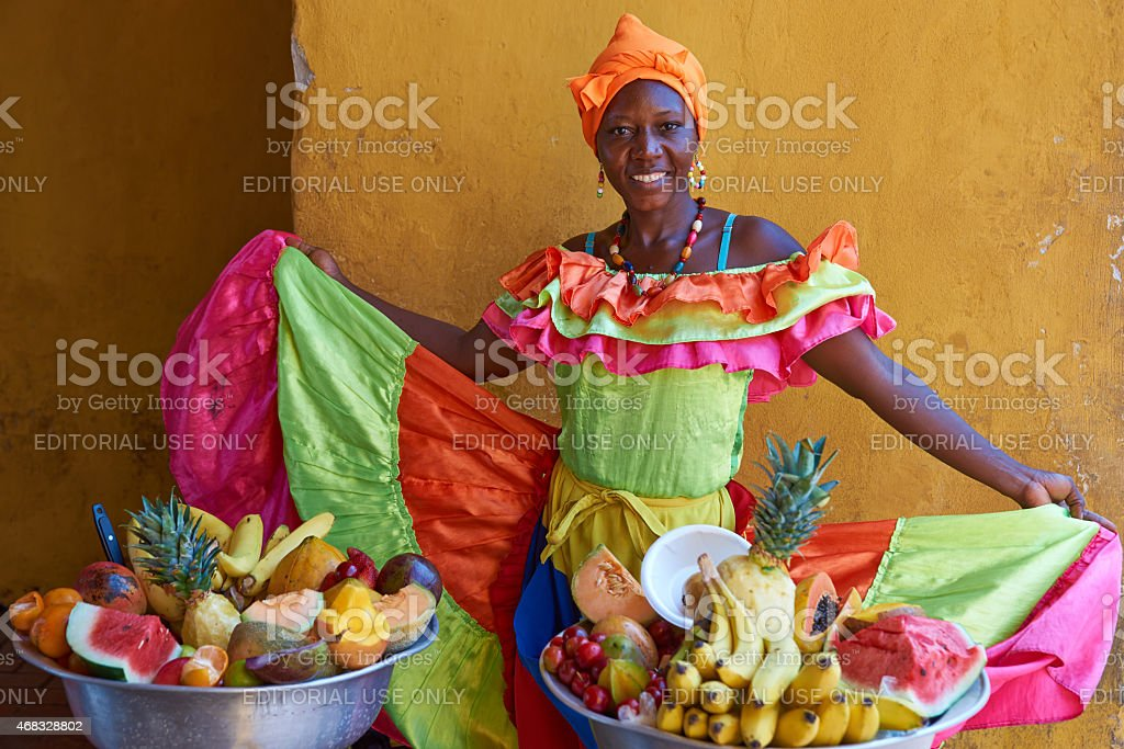 Fruit Seller stock photo