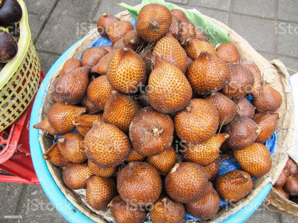 Fruit shop in bali stock photo