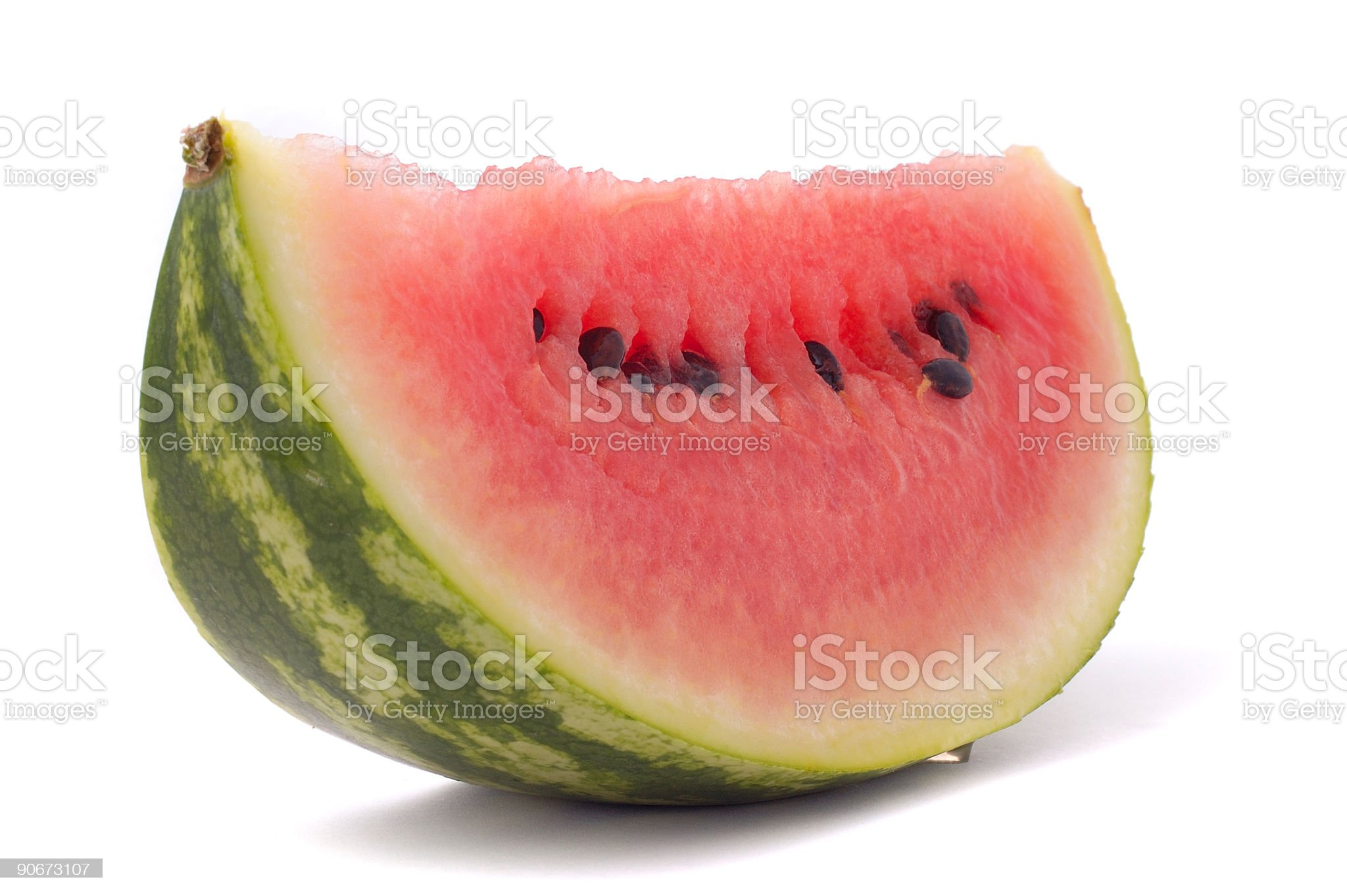 fruit, slice of juice water melon against white background royalty-free stock photo