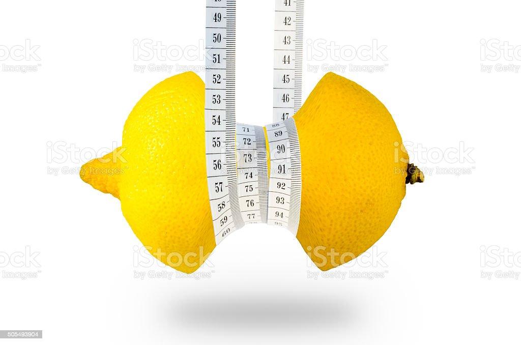 Fruit slimming healthy lemon full of vitamins stock photo